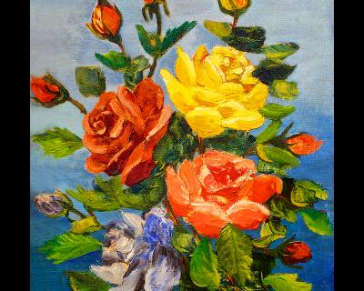 Rosas impresionistas